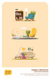 Some furniture set Royalty Free Stock Images