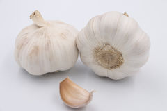 Some garlic. On a white background Royalty Free Stock Images
