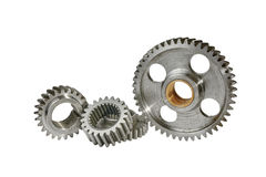 Some gears on a white background Royalty Free Stock Photos