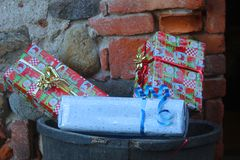 Gift boxes for Christmas. Some gift boxes for Christmas Royalty Free Stock Image