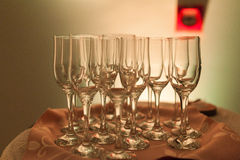 Some glasses Stock Photography