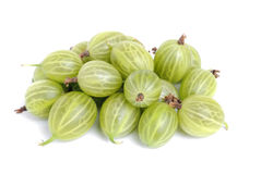 Some gooseberry solation  on a white. Some gooseberry isolation  on a white background Stock Photo