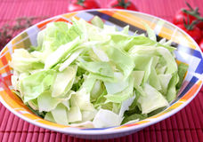 Some green cabbage. In a bowl stock image