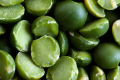 Some green peas. Close up Stock Photography
