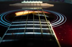 Some guitar strings. royalty free stock photo