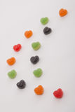Some gummy on the table. Some heart gummy on the table royalty free stock image