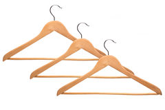 Some hangers for clothes isolated on white Royalty Free Stock Image