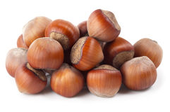 Some hazelnuts Stock Image