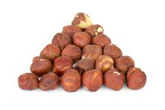 Some hazelnuts Stock Photography