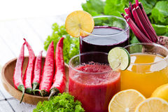 Some healthy fresh juice with ingredients Royalty Free Stock Image