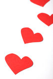 Some hearts on white paper Royalty Free Stock Image