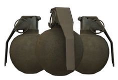 Some high explosive hand grenades royalty free stock photo