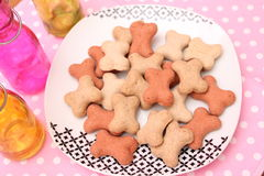 Cookies for Dogs. Some homemade cookies for Dogs with pork meat Royalty Free Stock Image