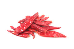 Some hot red pepper. Isolation on white Stock Photos