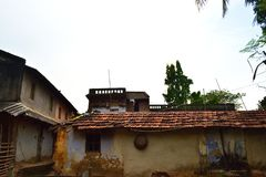 Some house in a Indian village, a vintage looks of some house royalty free stock photos