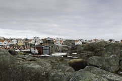 Some house on a island on the swedish westcoast. Outside gotheburg stock photography