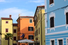 Some houses in Croatia. A row of houses in Croatia Royalty Free Stock Photography