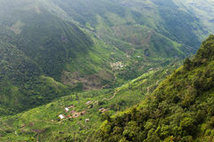 Some houses in a valley. Sri Lanka. The landscape with some houses in a valley. Sri Lanka royalty free stock photography