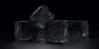 Some ice cubes Royalty Free Stock Image