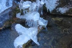 Ice forms on the river. Some ice forms on the river Royalty Free Stock Photo