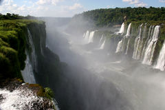 Some of the Iguacu Waterfalls. Argentina royalty free stock images
