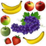 Some illustrated fruits Royalty Free Stock Photography
