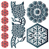 Some Islamic design elements Royalty Free Stock Photo