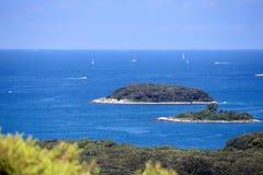 Some islands in blue ocean Stock Image