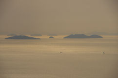 Some islands in Seto Inland Sea Stock Photos