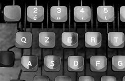 Some keyboard keys of an old typewriter Stock Photo