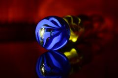 Playing Marbles Blue Colour Stock Photograph Royalty Free Stock Images