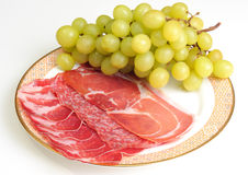 Some kind of sliced meat Royalty Free Stock Images