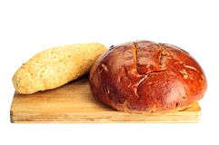 Some kinds of fresh bread Royalty Free Stock Photo