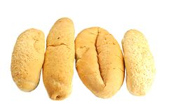 Some kinds of fresh bread Royalty Free Stock Photos
