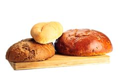 Some kinds of fresh bread Royalty Free Stock Image