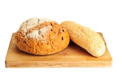Some kinds of fresh bread Royalty Free Stock Images