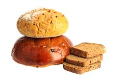 Some kinds of fresh bread Stock Photos