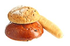 Some kinds of fresh bread Stock Photography