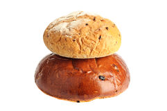 Some kinds of fresh bread Stock Images