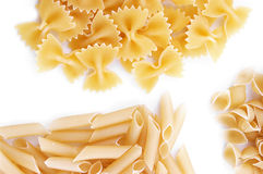 Some kinds of pasta. Background stock photography