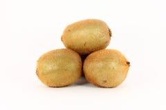 Some kiwi on white background. Some kiwi fruit isolated on white background Royalty Free Stock Photography