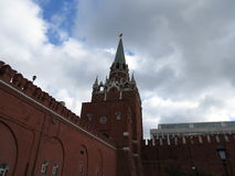 Some of the Kremlin. Few walls and towers of the Kremlin in Moscow Stock Images
