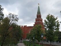 Some of the Kremlin. Few walls and towers of the Kremlin in Moscow Royalty Free Stock Photography