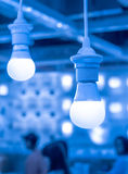 Some led lamps blue light science and technology background Stock Image