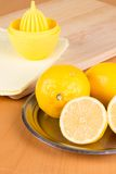 Some lemons on a plate Stock Image