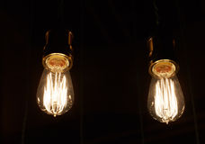 Some light bulbs on black. Background Royalty Free Stock Photo