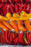Some little peppers at street market. Image of some little peppers at street market Royalty Free Stock Photography