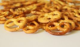 Some little pretzels on a plate. Some little, fresh pretzels on a plate Stock Image