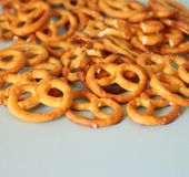 Some little pretzels on a plate. Some little, fresh pretzels on a plate Stock Photo