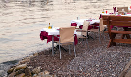 Restaurant at a beach Royalty Free Stock Images